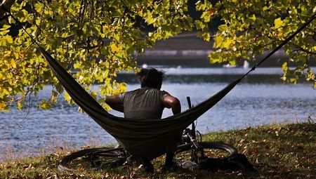 Parachute camping hammock for better scenery and me-time moment
